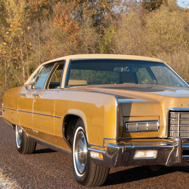 Lincoln Continental Sedan 1973 Gold For Sale 3y82a849293 1973