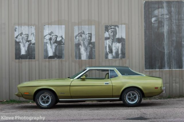 Ford Mustang Coupe 1973 Green For Sale 3f04h171659 1973