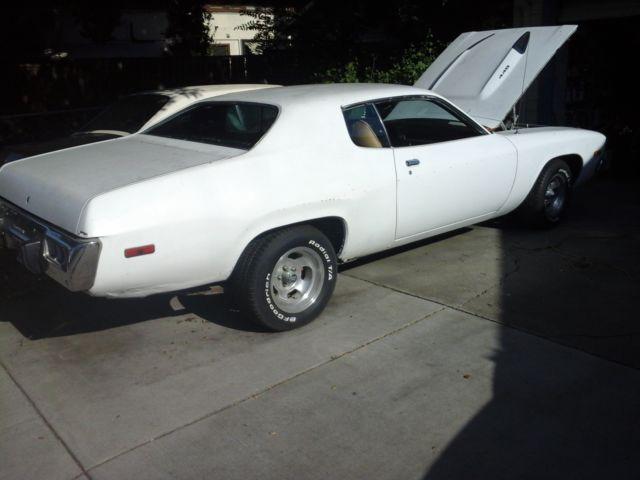 Plymouth Road Runner U  K 1973 White For Sale