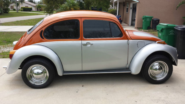 volkswagen beetle classic coupe 1973 silver and orange for sale 1132814948 1973 silver and. Black Bedroom Furniture Sets. Home Design Ideas