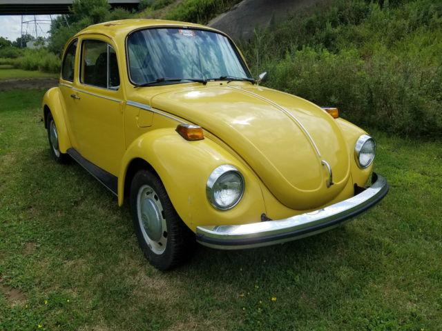 volkswagen beetle classic u k 1973 yellow for sale 1332561799 1973 volkswagen super beetle. Black Bedroom Furniture Sets. Home Design Ideas