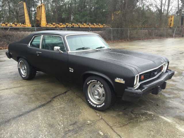 chevrolet nova coupe 1974 matte black for sale. Black Bedroom Furniture Sets. Home Design Ideas