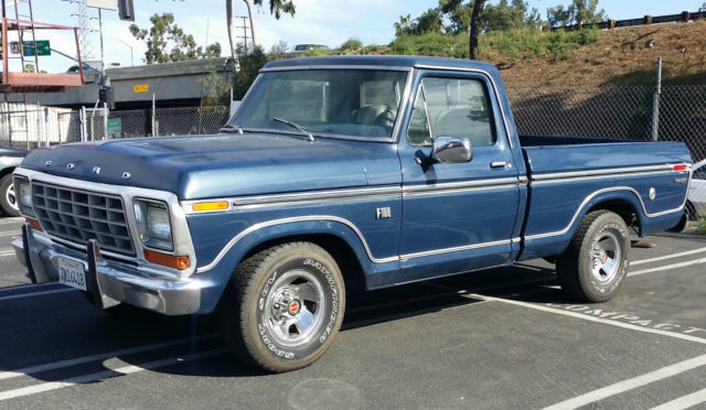 Ford f 100 standard cab pickup 1974 blue for sale for sale 1974 ford f 100 publicscrutiny Gallery