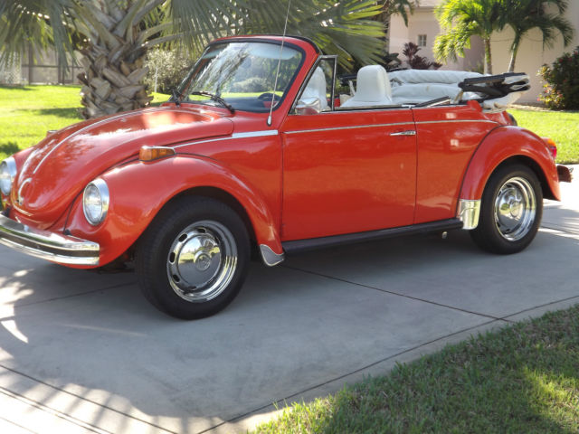 Volkswagen Beetle Clic Convertible 1974 Orange For 1542611958 Karmann Super