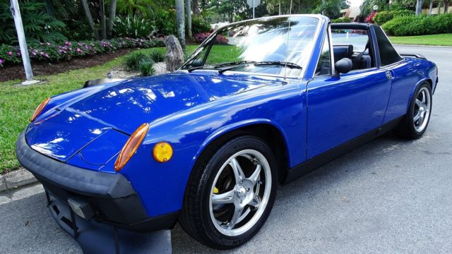 Porsche 914 Targa Top Sports Car 1974 Blue For Sale