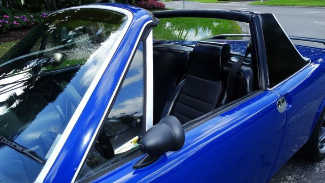 Porsche 914 Targa Top Sports Car 1974 Blue For Sale