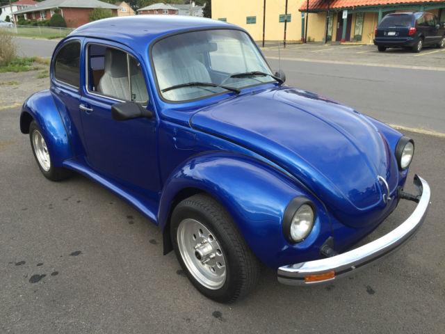 volkswagen beetle classic coupe  blue  sale   volkswagen super beetle