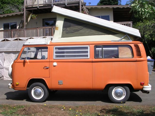 a36dcb9e49 Volkswagen Bus Vanagon Van Camper 1974 orange For Sale. 1974 VW ...