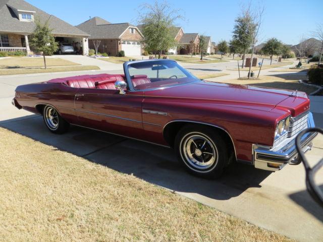 Buick Lesabre Convertible 1975 Maroon For 4p67t5x142977 Custom 2 Door 7 5l