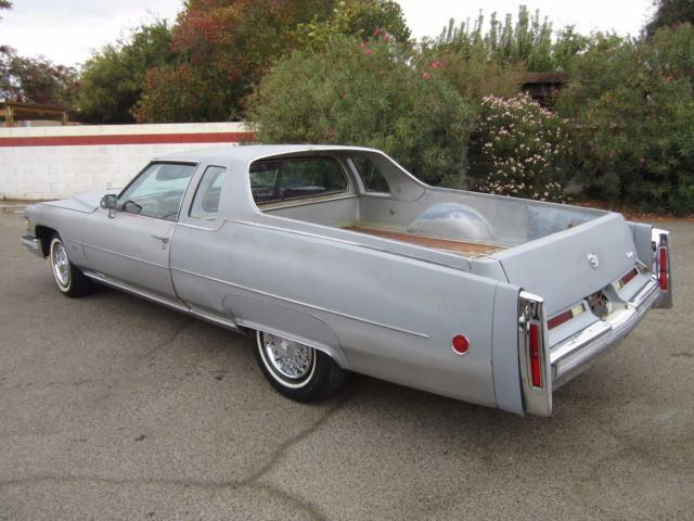 Cadillac Mirage Pickup 1975 Silver For Sale. 6D47S5Q277686