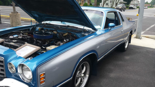 Dodge Charger Coupe 19750000 Blue For Sale 1975 Dodge