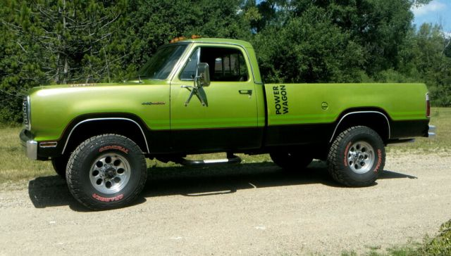 Dodge Power Wagon Standard Cab Pickup 1975 Green For Sale