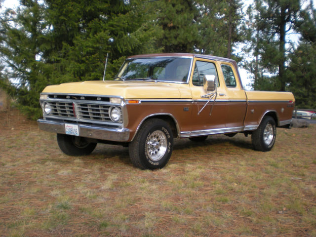 Used Cars Spokane >> Ford F-250 Extended Cab Pickup 1975 Sequoia Brown Metallic with Vineyard Gold For Sale ...