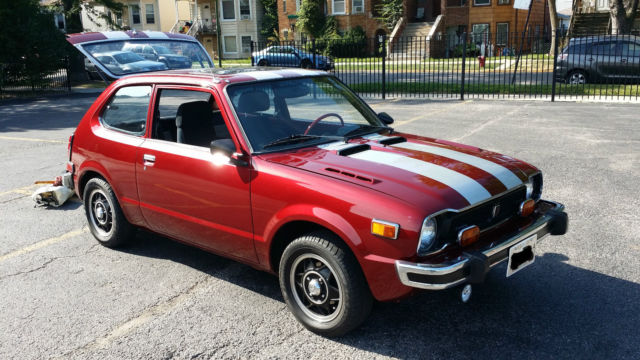 Honda Civic Hatchback 1975 Maroon Gray For Sale