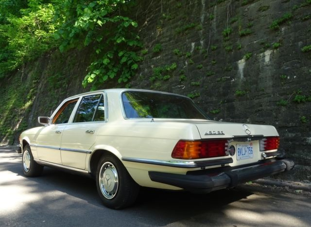mercedes benz 400 series sedan 1975 ivory for sale 00000000000000000 1975 mercedes 450se w116. Black Bedroom Furniture Sets. Home Design Ideas