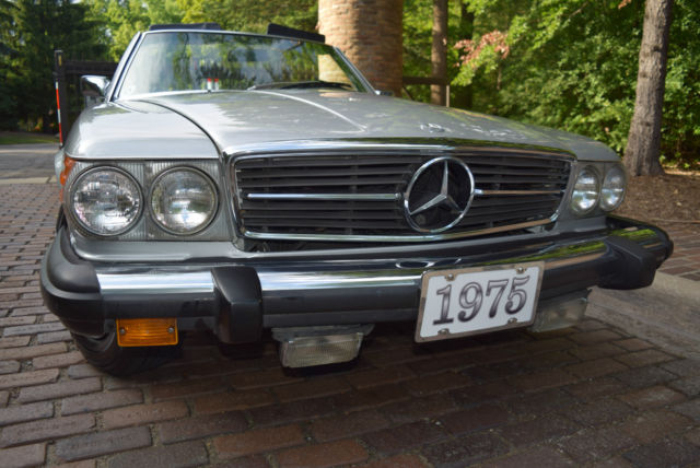 Mercedes benz sl class convertible 1975 silver for sale for Mercedes benz hats sale