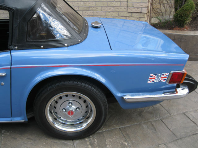 Triumph Tr 6 Convertible 1975 French Blue For Sale Cf31227 Uo 1975