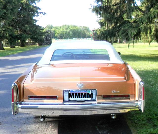 Cadillac Eldorado Convertible 1976 Sand For Sale