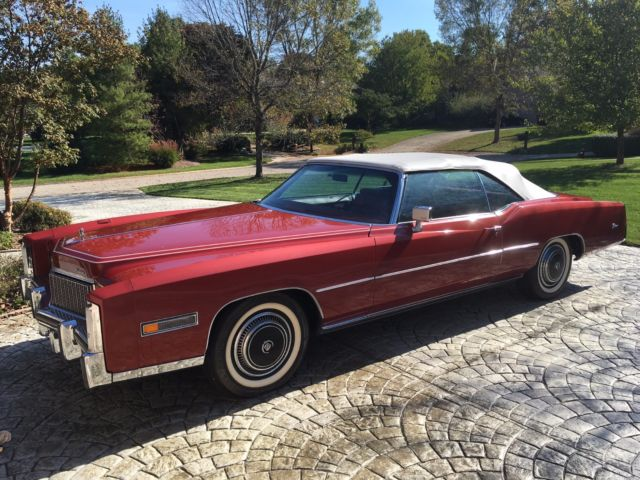 Cadillac Eldorado Xfgiven Type Xfields Type Xfgiven Type 1976 Red For Sale 6l67s6q217221