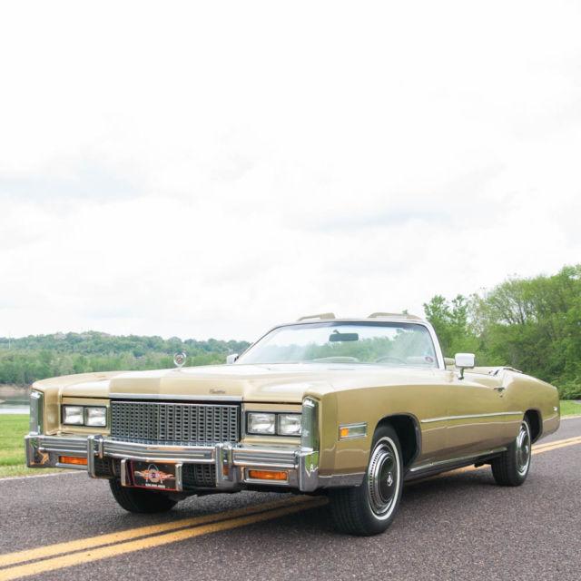 Cadillac V Series For Sale: Cadillac Eldorado Convertible 1976 Florentine Gold For Sale. 6L67S6Q242317 1976 Cadillac