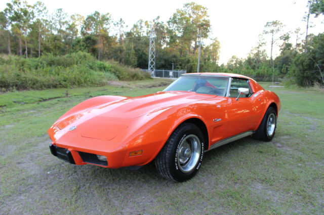 Chevrolet Corvette Coupe 1976 Orange Flame 70L (Stock OEM Color from Factory) For Sale