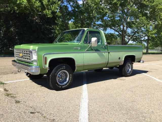 chevrolet c k pickup 1500 standard cab pickup 1976 green for sale cku146j154657 1976 chevy. Black Bedroom Furniture Sets. Home Design Ideas