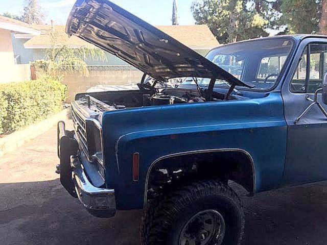 chevrolet other pickups standard cab pickup 1976 blue for sale ckl146z114107 1976 chevy truck. Black Bedroom Furniture Sets. Home Design Ideas