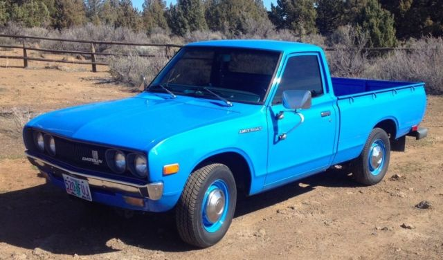 datsun other standard cab pickup 1976 blue for sale hl620826695 1976 datsun 620 pickup truck. Black Bedroom Furniture Sets. Home Design Ideas