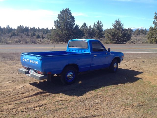 datsun other standard cab pickup 1976 blue for sale. Black Bedroom Furniture Sets. Home Design Ideas