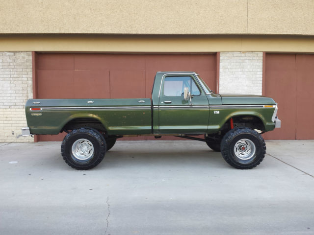 ford f 250 standard cab pickup 1976 green for sale f26yrb28380 1976 ford f250 4x4 highboy beast. Black Bedroom Furniture Sets. Home Design Ideas