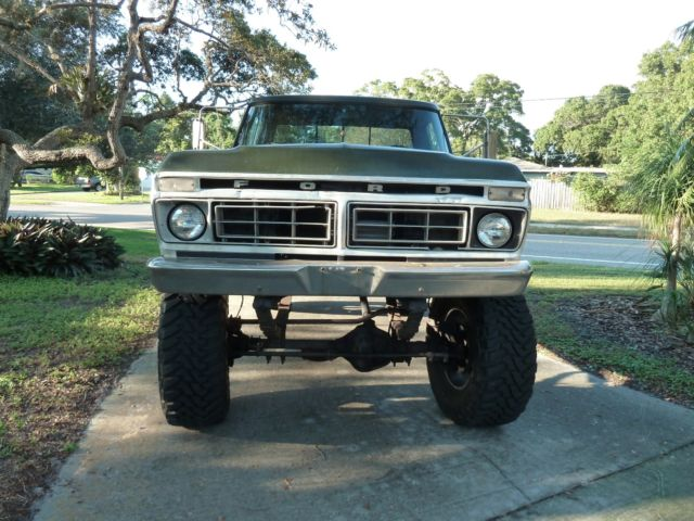ford f 250 1976 green for sale 1976 ford f250 350 high boy. Black Bedroom Furniture Sets. Home Design Ideas