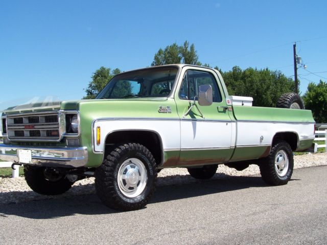 additionally Gmc K Chevy X Original Condition Low Miles Owner Ton Ac Cab besides  also F Af B Ea Bf C F Db C er also . on 1976 gmc 4x4 pickup 2500 camper special