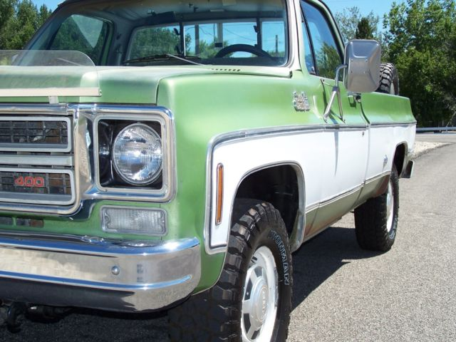 Gmc Sierra 2500 Cab Amp Chassis 1976 Green For Sale