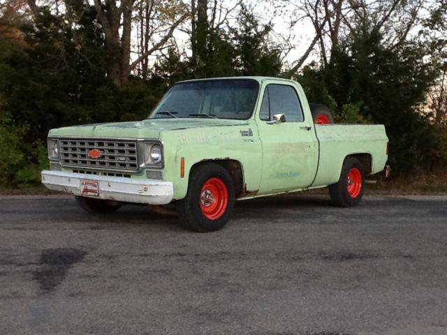 Chevrolet C-10 Standard Cab Pickup 1976 Green For Sale ...
