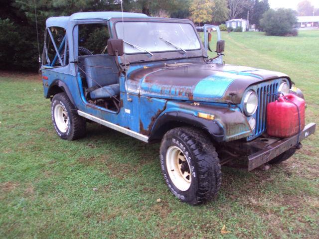 jeep other suv 1976 blue for sale j6a93ah021138 1976 jeep cj7 renegade sport utility 2 door 5. Black Bedroom Furniture Sets. Home Design Ideas