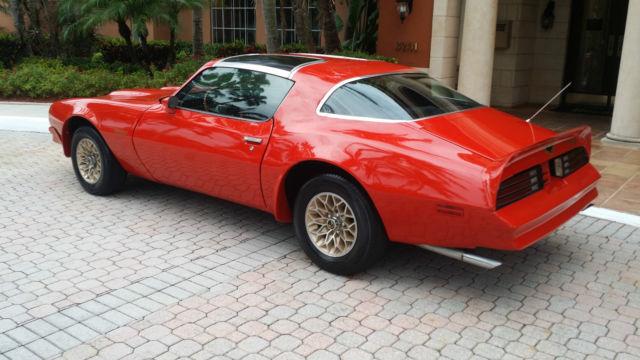 pontiac firebird coupe 1976 red for sale  2u87m6n516375