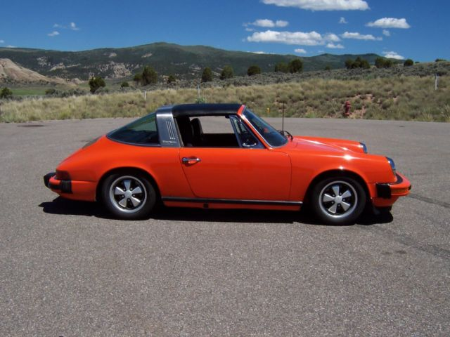 Porsche 911 Targa Top 1976 Orange For Sale 1976 Porsche