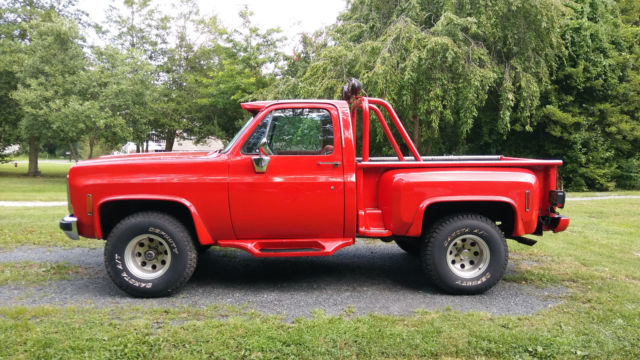 chevrolet other pickups 2 door pickup 1977 red for sale ckl147f457782 1977 chevy truck 4x4. Black Bedroom Furniture Sets. Home Design Ideas