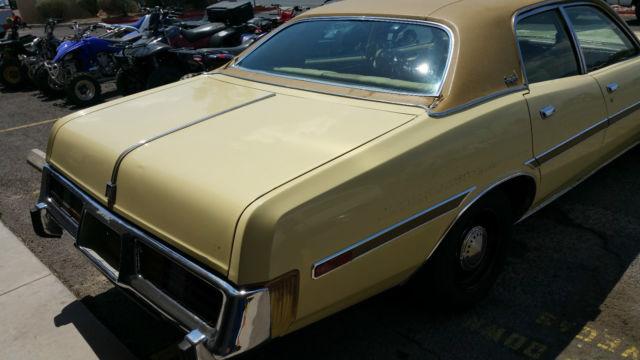 Dodge Monaco 1977 Yellow For Sale  1977 Dodge Monaco