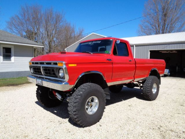 Ford F 150 Standard Cab Pickup 1977 Red For Sale