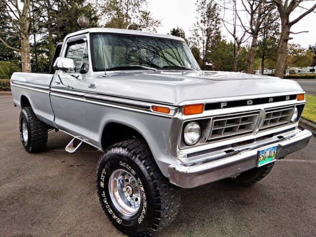 Ford F-150 Standard Cab Pickup 1977 Silver For Sale
