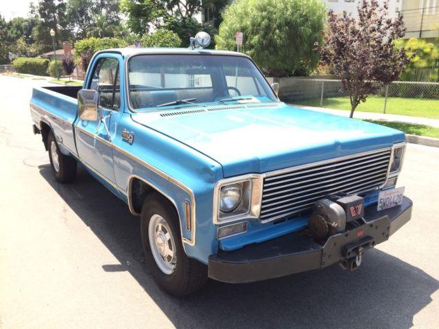 GMC Sierra 2500 Standard Cab Pickup 1977 Blue For Sale