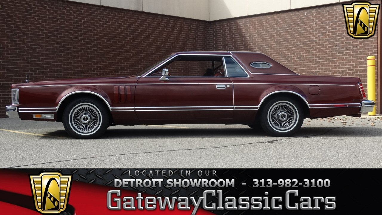 Lincoln Continental -- 1977 Red For Sale  GCCDET828 1977