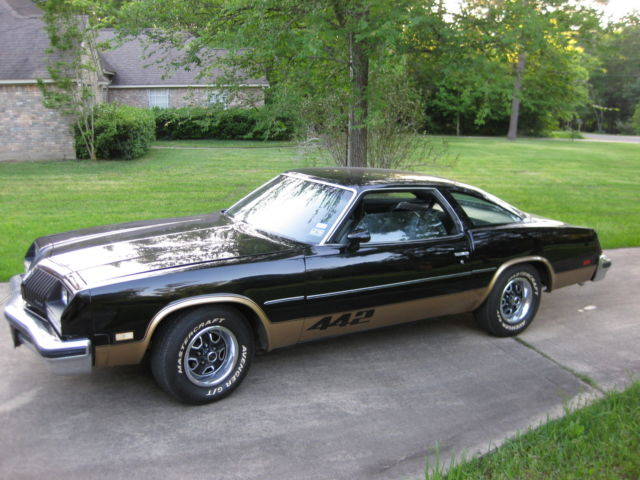 oldsmobile cutlass coupe 1977 black for sale