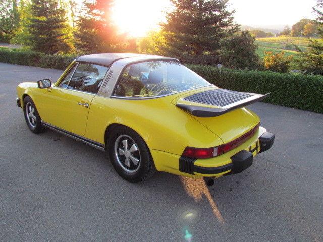 1976 Porsche 911 930 For Sale: Porsche 911 911S Targa 1977 Yellow For Sale. 9117210466