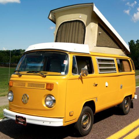 volkswagen bus vanagon standard passenger van 1977 yellow for sale