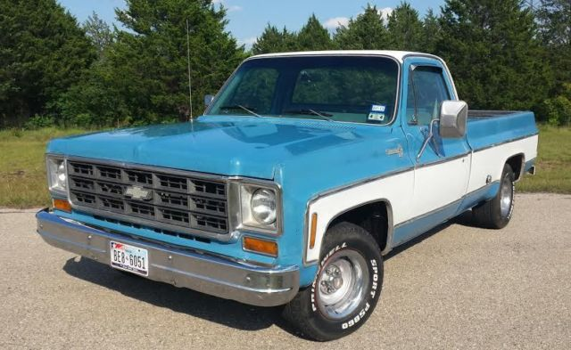 Chevrolet C-10 Standard Cab Pickup 1978 Blue For Sale ...
