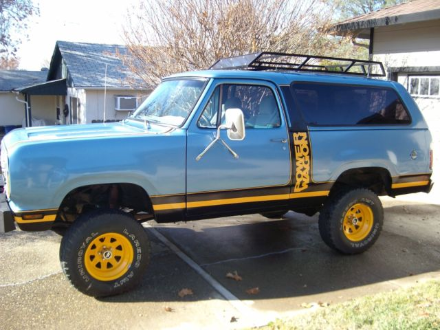 Dodge Ramcharger Convertible 1978 Blue For Sale ...