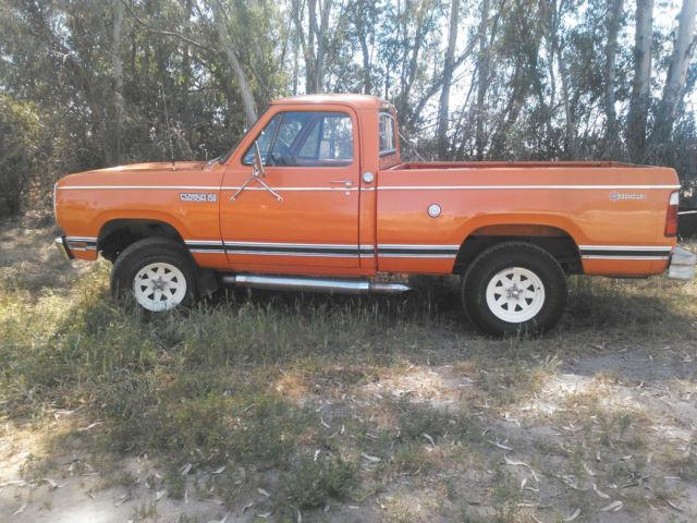 Dodge Power Wagon 1978 Orange For Sale W14bf8s199376 1978 Dodge