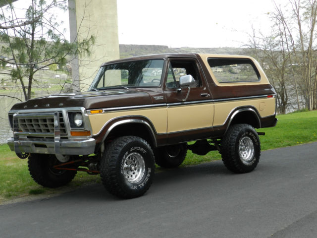 Ford Bronco Suv 1978 Brown And Cream For F150 4x4 Original Paint Body Rare The Year Best Price